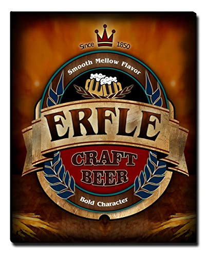 ZuWEE Erfle Craft Beer Gallery Wrapped Personalized Canvas Print