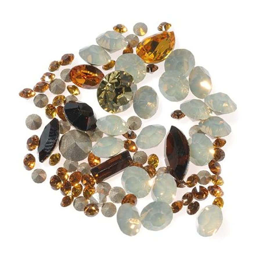 SWAROVSKI ELEMENTS Chaton Mix - Assorted Shapes And Sizes - Browns (4.5 Grams)