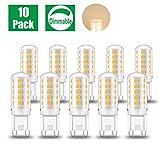 Eofiti Ampoules G9 LED Dimmable, 5W LED G9 Dimmable Blanc Chaud Équivalent à 40W Halogène G9 Ampoule 230V Lumière 420LM Lumineux 2700K Lampe LED G9 360°Larges Angle de Faisceau 32 * 2835 SMD Lot de 10