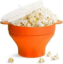 Opvouwbare magnetron Popcorn Maker Bowl Bags, Hot Air Popcorn Popper Bowl Containers met deksel en handgrepen Siliconen Po...