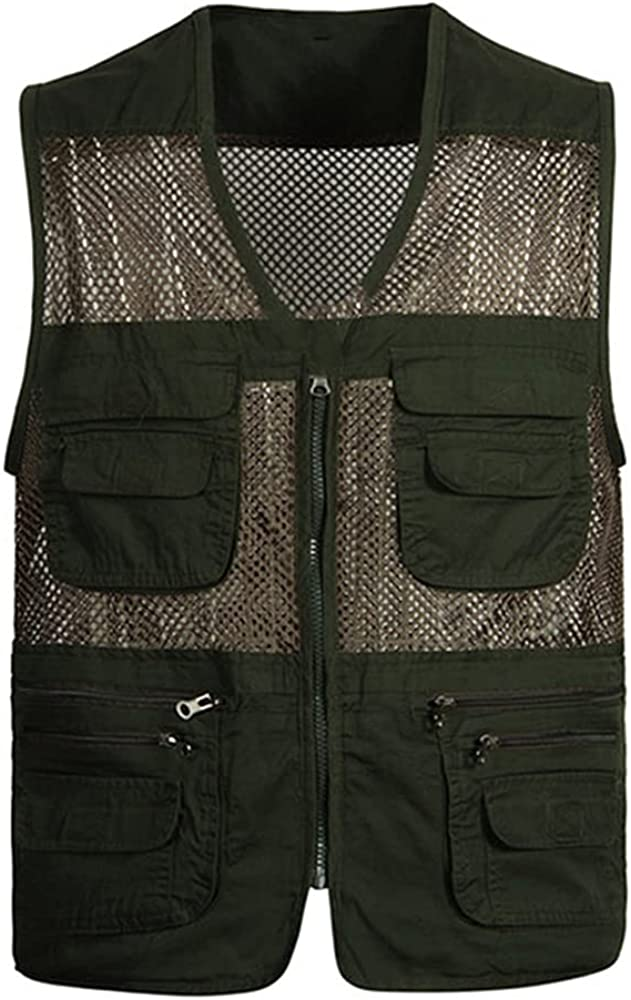 Large Mesh Max 58% OFF Vests Male Many Mens Work Sleeveless Large-scale sale Vest Fishing