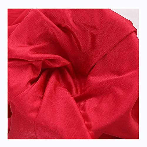 Color Sólido Material de Tela Transparente de Gasa Suave al Tacto Vendido por Metros, Ancho 160cm(Color:rojo)