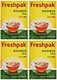 Freshpak Pure Rooibos Tea 80 Tagless Bags, Pure Rooibos Tea Not a Rooibos Infusion (4 X Pack)