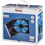 Hama Custodia CD Slim Confezione da 100 Pezzi, Trasparente/Nero...