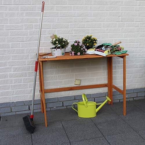 Beauty.Scouts Gärtnertisch Tisch Tonia honigbraun klappbar wetterfest 116x58x86,5cm Kieferholz Pflanztisch Massivholz imprägniert braun Arbeitstisch Blumentisch
