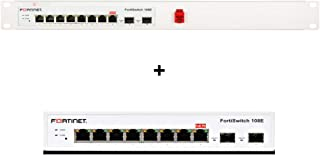 Rackmount RM-FR-T12 w/Fortinet FortiSwitch-108E Switch Controller Compatible Switch with 8 x GE RJ45 Ports