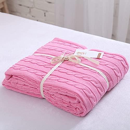 Ldd Manta Suave Camas, Manta de Punto de algodón a Cuadros Polar, Manta nórdica para sofá, Textiles para el hogar para Adultos, Travle