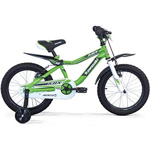 KAWASAKI KBX 16' Bicicletta Bambino 5 6 7 8 Anni con Parafango Moto