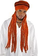 Orange Dread Cap Party Wig Costume