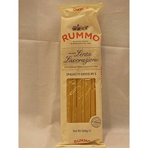 Rummo Lenta Lavorazione Spaghetti Grossi No.5 500g Packung (große Nudeln)