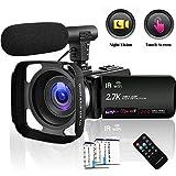 Camcorder Video Camera 2.7K WiFi Vlogging Camera Night Vision Digital Camera with Microphone Vlog Blogging Video Camera for YouTube