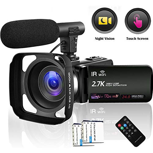 Camcorder Video Camera 2.7K WiFi...