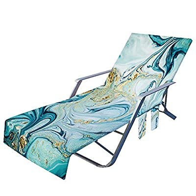 Amazon - Save 80%: Beach Chair Cover with Side Pockets, Microfiber Lounge Chair Towel Rack (C)