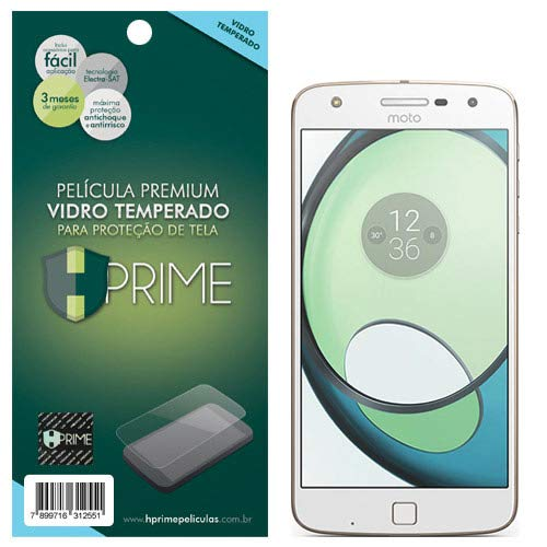 Pelicula de Vidro temperado 9h HPrime para Motorola Moto Z Play, Hprime, Película Protetora de Tela para Celular, Transparente