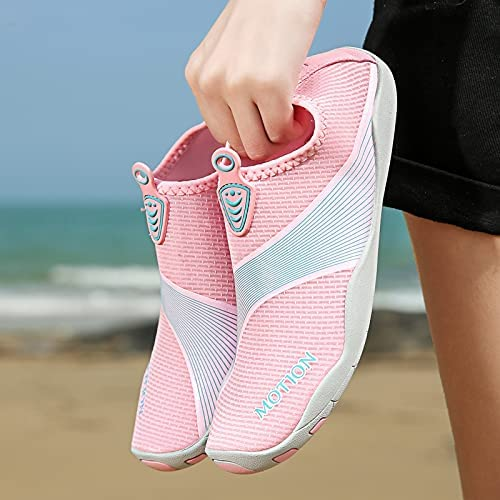 Water Shoes for Women Size 8.5 Pink Outdoor Sports Barefoot Quick-Dry Aqua Yoga Socks for Surf Swim Summer Water Sport Shoes
