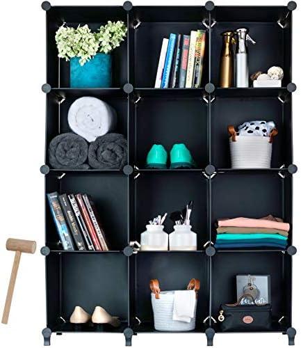 Homeries Cube Storage System Modular DIY Plastic Closet Organizer Rack Storage Shelves Bookshelf product image
