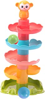 TOYANDONA Ball Drop Toy Roll Swirling Tower Ramp Activity Playset Early Development Educational Toys for Toddler Kids Birt...