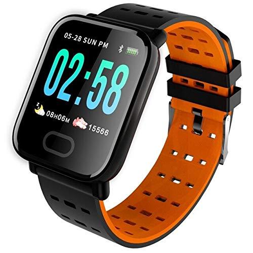 Smart Band Fitness Tracker Uhr Blutdruck Armband Pulsmesser Sport Smart Wristband Watch,Orange