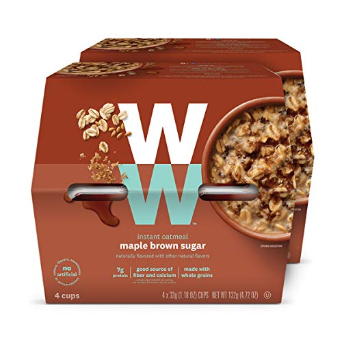 WW Maple Brown Sugar Instant Oatmeal  3 SmartPoints  2 Boxes 8 Count  Weight Watchers Reimagined
