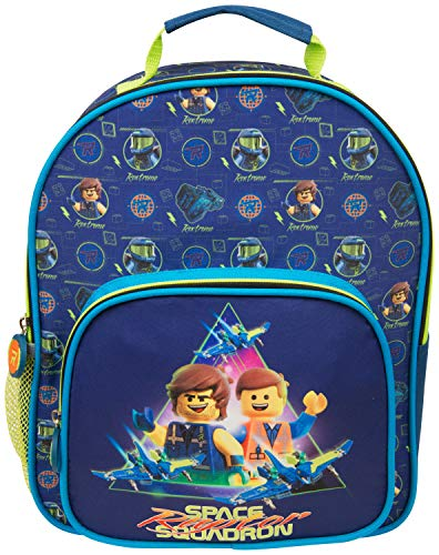 Lego Movie 2 Deluxe Junior Backpack With Side Zip Pocket And Mesh for Kids and Adults