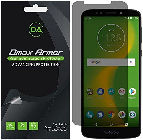 [2-Pack] Dmax Armor for Motorola Moto E5 Supra Privacy Anti-Spy Screen Protector Shield