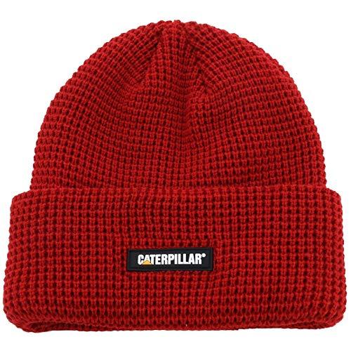 Caterpillar Men's Grid Watch Cap, Chili Pepper, One