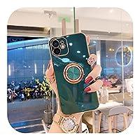 高級リングホルダーケース For iPhone11 7 8Plusゴールドメッキメタルスタンド For iPhoneカバー1213 Pro Max XS XRSEシリコン-T1-For iPhone 13 Mini
