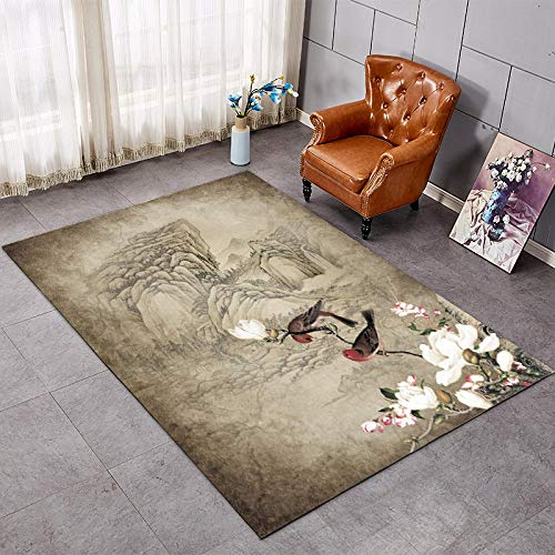 Salón alfombra mesa mesa casa simple dormitorio moderna alfombra rectangular cama lateral cubierta -1,2 x 1,6 m