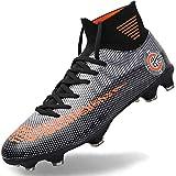 Brfash Chaussures de Football Homme Crampon Foot Profession Athlétisme Entrainement High Top Chaussures de Foot