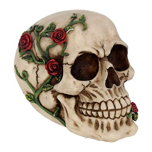 """Nemesis Now, Schädelfigur """"Rose from Beyond"""", 16,5 cm, elfenbeinfarben"""