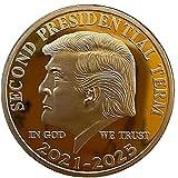記念コイン 米国トランプ大統領 きねんコイン お土産 コレクション 記念硬貨 ギフト アクリルケース付き 1個 2189390051