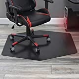 ES Robbins Game Zone Chair Mat, 42' x 46', Black