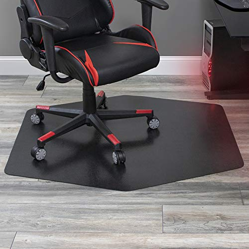 ES Robbins Game Zone Chair Mat, 42' x 46', Black
