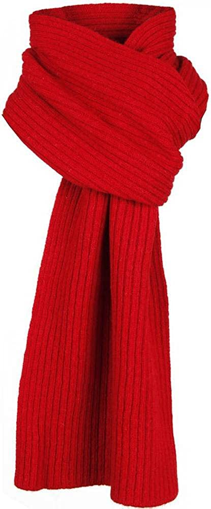 SALENEW very popular! Dents Mens Plain Ribbed Scarf Knitted Berry - Ranking TOP7