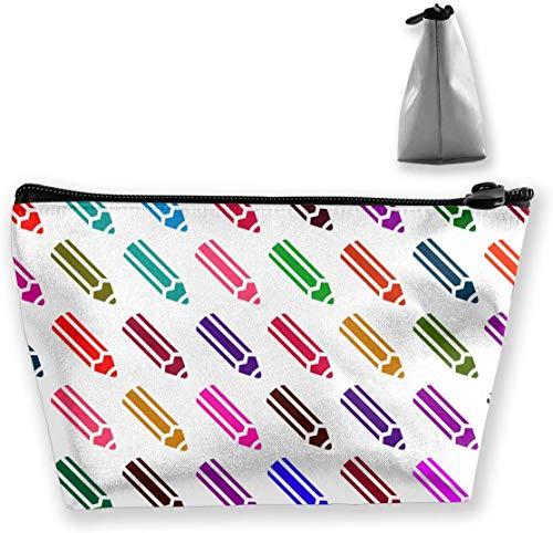 Make-up-Tasche Trapezförmiger Aufbewahrungsbeutel Stiftfarbe Bleistiftform Kosmetische Multifunktions-Make-up-Etuis Reise-Kulturbeutel