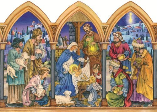 Nativity Arches Religious German Advent Calendar
