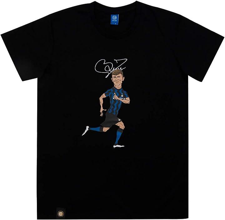 Maglietta inter - inter t-shirt characters barella black edition t-shirt unisex - adulto TSblkBAR