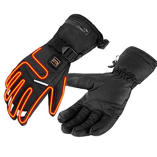 JFF Beheizte Handschuhe Für Männer Frauen Elektro Beheizte Handschuhe Beheizte Skihandschuhe Elektrische Skihandschuhe Bergsteigen,M