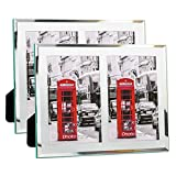 Schliersee 4x6 Picture Frame Pack of 2 Mirrored Glass Photo Frame 4x6 Double for Tables Display