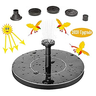 VORRINC Solar Bird Bath Fountain, Solar Powered Fountain 1.4W Free Standing Floating Birdbath Water Pumps for Garden, Patio, Pond and Pool