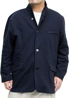 [one colors] イタリアンカラージャケット メンズ 大きいサイズ ストレッチ カルゼ素材 スウェット テーラードジャケット