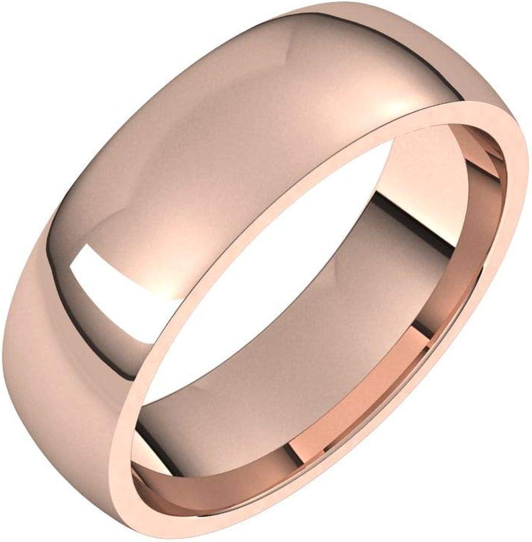 Diamond2Deal 10K Rose 6 Ranking TOP18 Bombing new work mm Half Light Fit Comfort Wedding Round