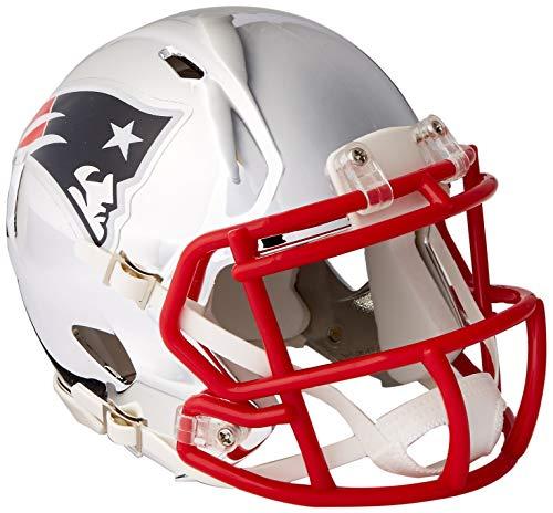 Riddell Speed NFL NEW ENGLAND PATRIOTS Football Helmet Chrome Mini Chrome Football Retail Box