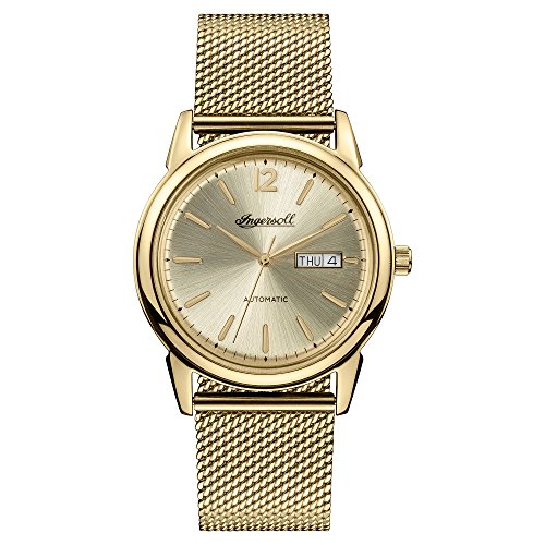 Ingersoll Men's The New Haven Automatic Watch with Gold Dial and Gold Stainless Steel Bracelet I00506
