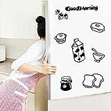 Pegatina Nevera Cocina Pegatinas de Pared Refrigerador Pegatinas de Vinilo Art Wall Decal Home Decor-Sencillo Vida, Patrón de Good Morning