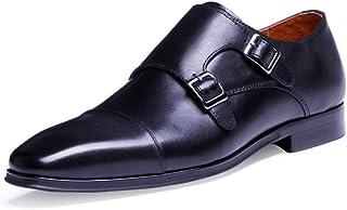 Kirabon Zapatos de Hombre, Zapatos de Negocios, Zapatos con Punta, Zapatos de Boda. (Color : Negro, Size : 46)