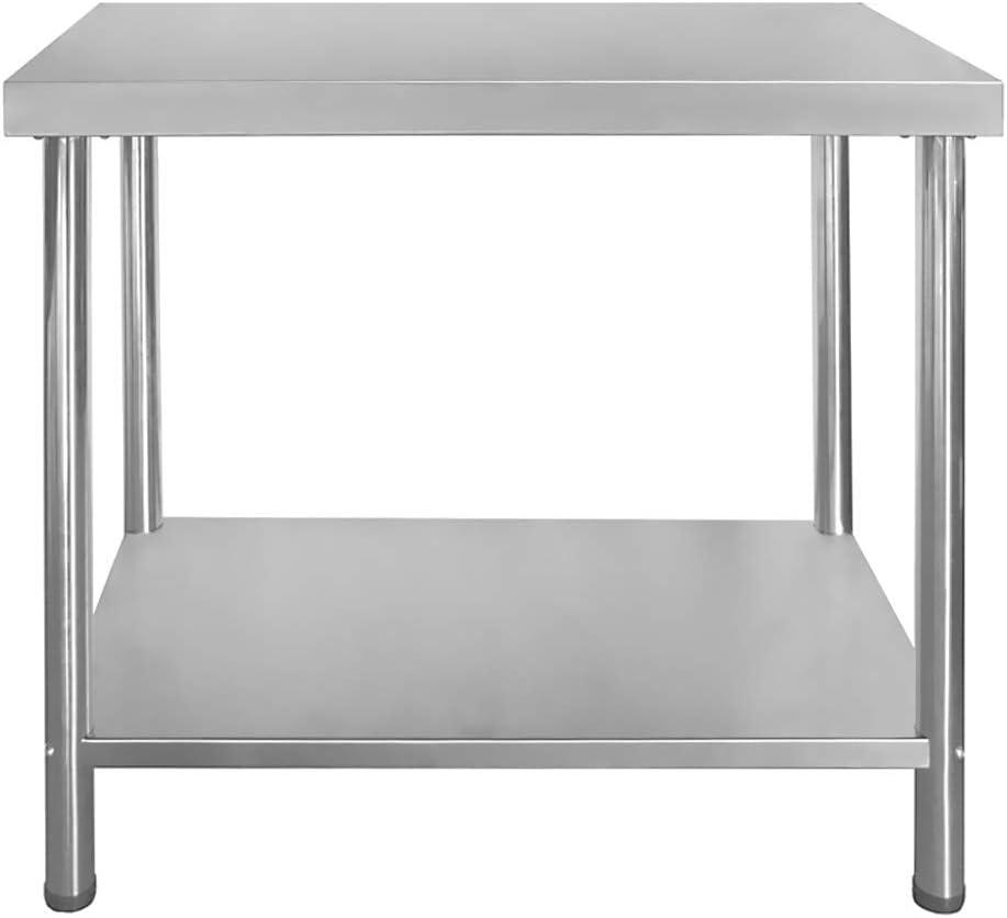 Edelstahl Arbeitstisch Edelstahltisch Zerlegetisch 120 x 60 cm Aufkantung 110 kg
