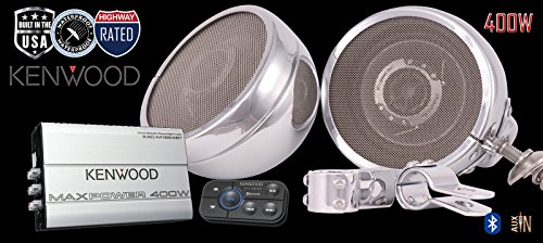 ST400 Kenwood Cruiser Motorcycle Speaker Stereo Radio System by Steel Horse Audio