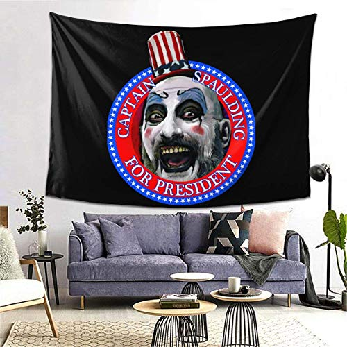 IUBBKI Captain Spaulding for President Sid Haig Fitted Soft Comfortable and Durable Tapestry Fabric Good Indoor Wall Dec.