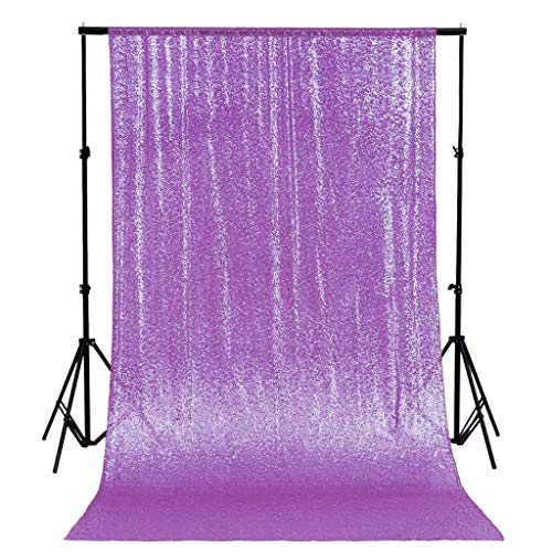 Lavender Sequin Backdrop for Photo Booth Glitter Lilac Curtains Great Gatsby Party Decorations 4FTx6FT -1219S